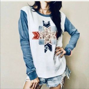 Free people patch work thermal